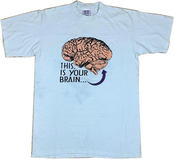 Vintage Brain On Volleyball Tee