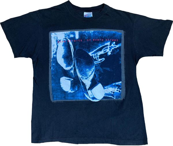 Vintage 1992 Dire Straits On Every Street Tour Tee