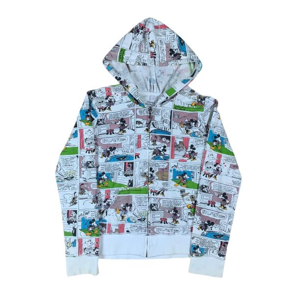 Women's Disney Mickey Mouse All Over Print Comic Zip Up Hoodie