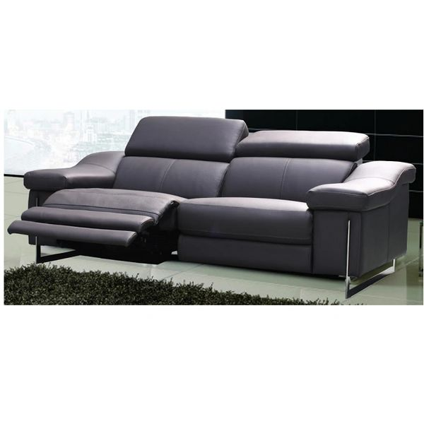 Astounding Power Recliner Top Grain Leather Sofa Machost Co Dining Chair Design Ideas Machostcouk