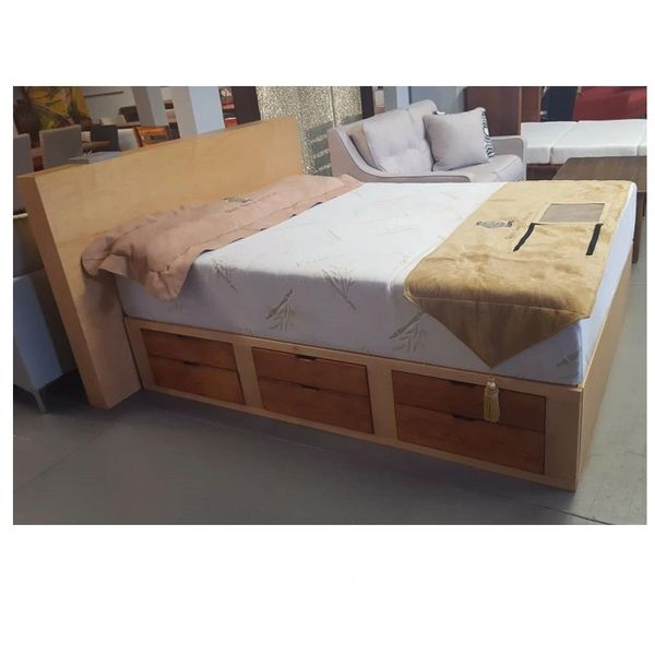 Storage Drawer Bed Solid Wood Queen Furniture Innovation San