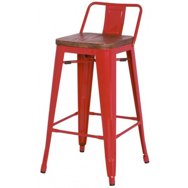 Remarkable Metro Low Back With Wood Seat Metal Counter Stool Set Of 4 Squirreltailoven Fun Painted Chair Ideas Images Squirreltailovenorg