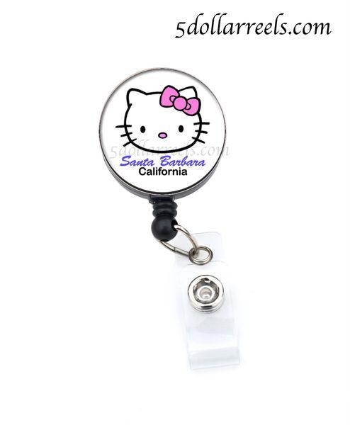 Hello kitty badge reel