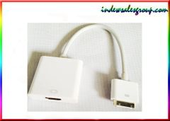 Apple iPad 2/3 iPhone 4S White 30 Pin Dock Connector to HDMI Cable Adapter