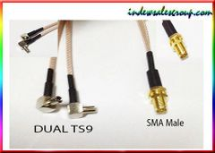 RP-SMA RP SMA male to Dual TS9 TS-9 Male Plug Adapter Cable 20cm