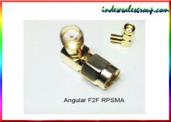 Right Angle RPSMA Female 2 Female RF Coaxial Adapter
