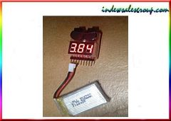 Quadcopter RC LiPo Battery Voltage Tester with Alarm Buzzer (1S-8S)