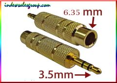 Stereo 3.5mm Male Plug to 6.35mm F 1/4inch Jack Converter