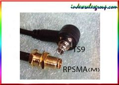 TS9 Plug to RP-SMA (Male) Black Connector Adapter Cable
