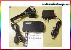 CCTV Camera DVD DVR BNC S-Video VGA to PC Monitor VGA Converter Switch
