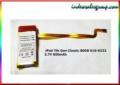 iPod 5th 6th 7th Gen Classic Replacement Battery 850mAh 616-0229 80GB 120GB 160GB