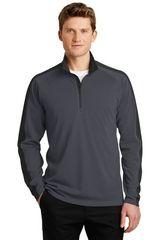 Sport-Tek® Sport-Wick® Textured Colorblock 1/4-Zip Pullover