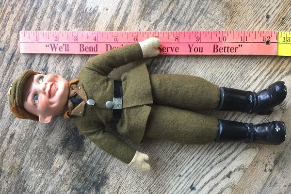 Extremely Rare 1930s Ww2 German Nazi Brownshirt Doll Wwii