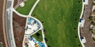 Golden Bay aerial photo of new playground