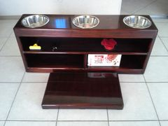ANGEL TWO BOWL DOG TABLE