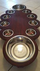 10 Bowl Cat/Dog Feeding Station