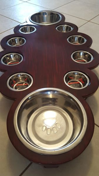 10 Bowl Cat/Dog Feeding Station