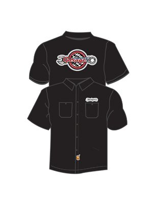 Short Sleeve, Collared Crew Shirt w/colored logo