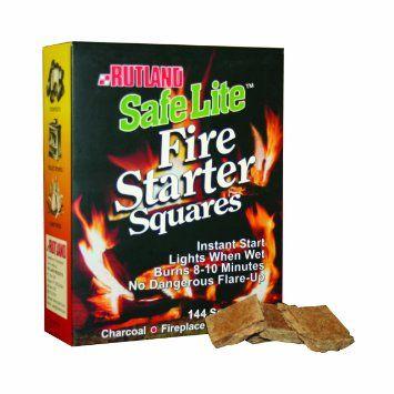 Rutland Fire Starter Squares (144 Pack)