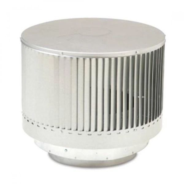Round Louvered Termination for Triple Wall Pipe