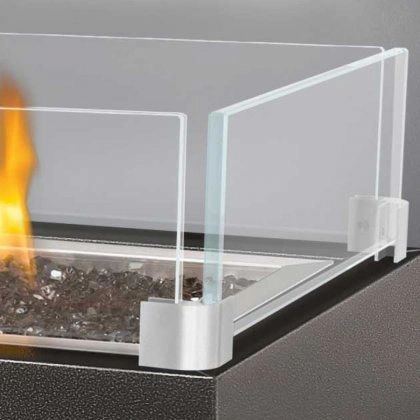 Glass Windscreen Kit for Napoleon Gas Fire Pits
