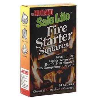 Rutland Fire Starter Squares 24 Pack