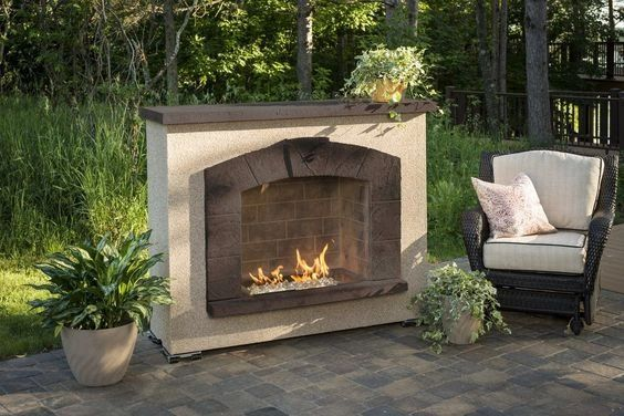 Outdoor GreatRoom Company Stone Arch Outdoor Gas Fireplace