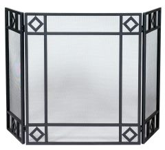 Uniflame 3 Panel Fireplace Screen w/Diamond Design