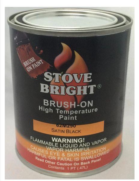Stove Bright Brushable Fireplace paint - Satin Black