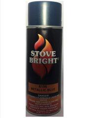 Stove Bright Fireplace Paint - Blue Metallic