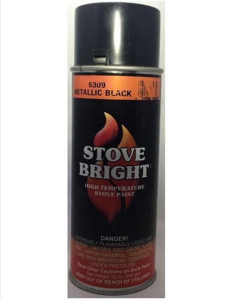 Stove Bright Fireplace Paint - Metallic Black