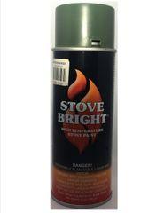 Stove Bright Fireplace Paint - Moss Green Metallic