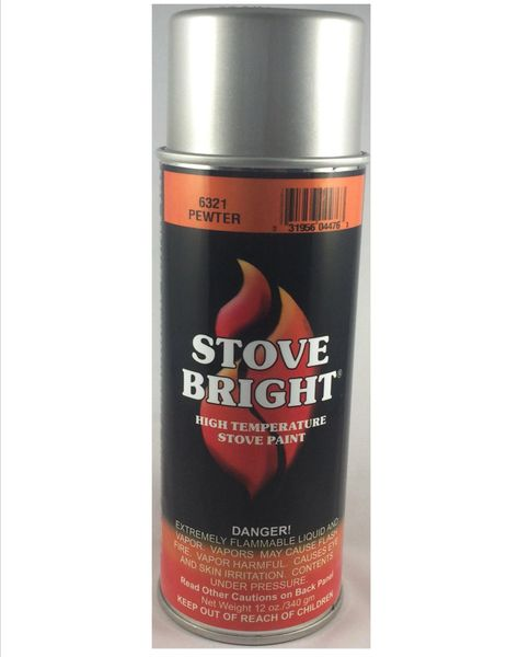 Stove Bright Fireplace Paint - Pewter