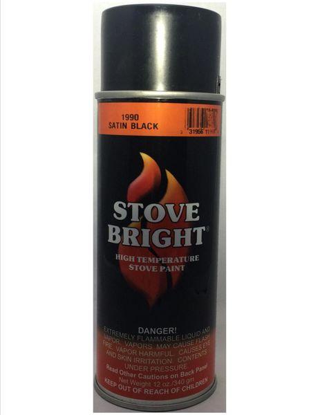 Stove Bright Fireplace Paint - Satin Black
