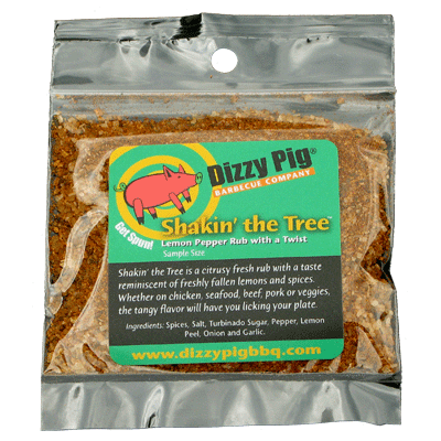 Dizzy Pig Shakin' The Tree SAMPLE SIZE Rub