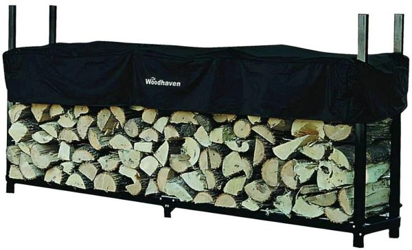 8' Woodhaven Firewood Rack and Cover