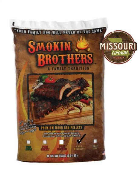 Smokin' Brothers PURE Mesquite Pellets 20 lbs.