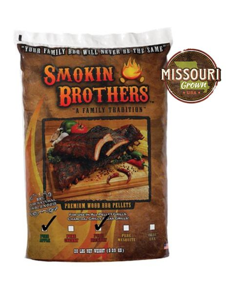 Smokin' Brothers Apple/Hickory BLEND Pellets 20 lbs.