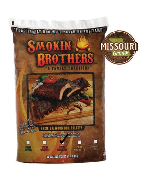 Smokin' Brothers PURE Hickory Pellets 20 lbs