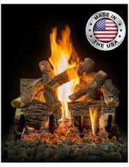 Arizona Weathered Oak Charred Gas Log Set by Grand Canyon Gas Logs