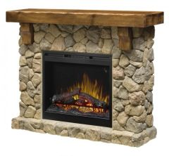 Dimplex Fieldstone Electric Fireplace Set w/Logs