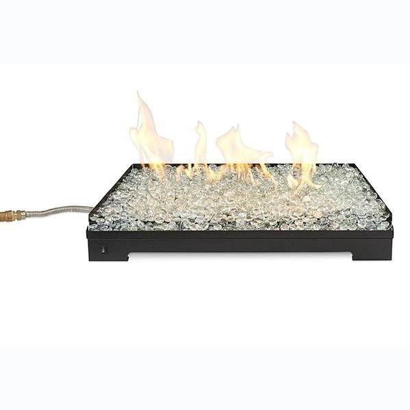 Outdoor GreatRoom Company Crestline Modern Gas Hearth Set