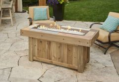Outdoor GreatRoom Company Vintage Linear Fire Pit Table