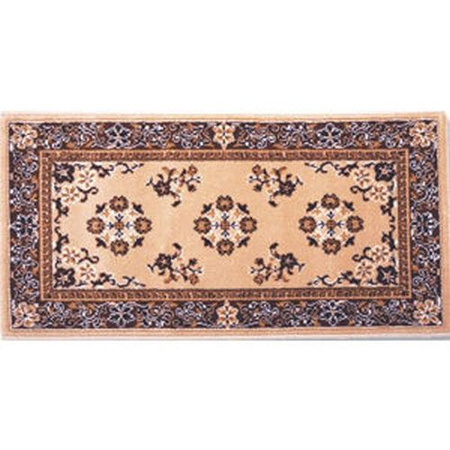 Beige Oriental Hearth Rug