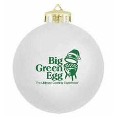The Big Green EGG White Christmas Ornament