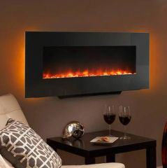 "Simplifire 38"" Wall-Mount/Stand Up Electric Fireplace"