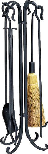 Uniflame 5 Pc Black Heavy Weight Rustic Fireset