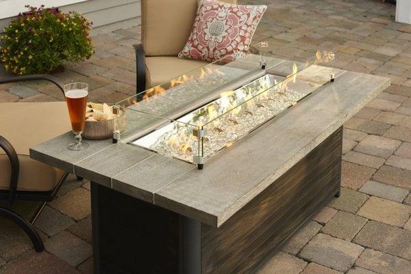 Outdoor GreatRoom Company Cedar Ridge Fire Pit Table