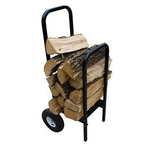 WoodHaven Log Rack Cart