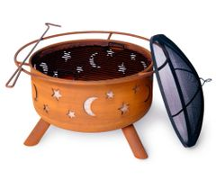 SoJoe Stars & Moon Design Wood Burning Fire Pit